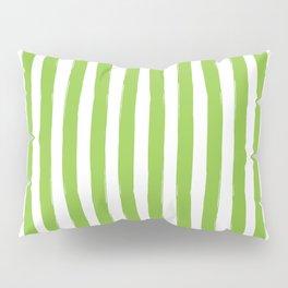 Green and White Cabana Stripes Palm Beach Preppy Pillow Sham