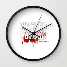 Washed in Blood Wall Clock