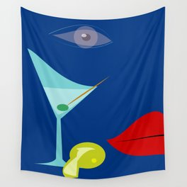 Cocktail Martini Wall Tapestry