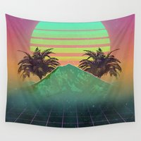 80s Wall Tapestries featuring 80s love by Mikuloctopus