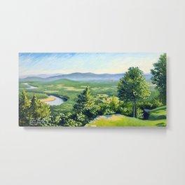 Fine Art Print of a View from Mt. Holyoke, Hadley, Massachusetts Metal Print