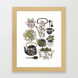 Plates, Pots & Tea Framed Art Print