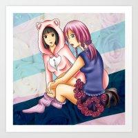 Yasuho and Daiya Art Print