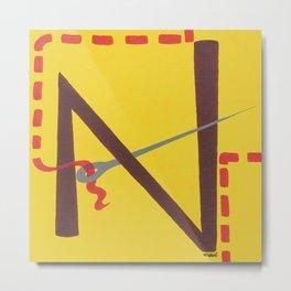 N is for Needle Metal Print