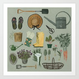 Garden Tools Art Print