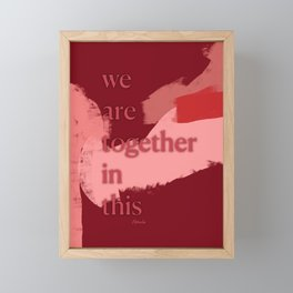 Ambience 051 together Framed Mini Art Print