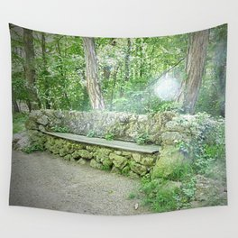 Fairy Bench Wall Tapestry