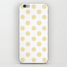 Polka Dots (Vanilla/White) iPhone & iPod Skin