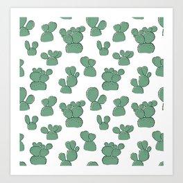 Bunny Ear Cactus Art Print