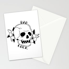 Old school Skull Tattoo Stationery Cards