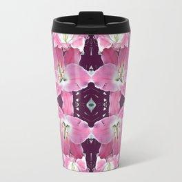 PINK SPRING LILY FLOWERS PURPLE GARDEN Travel Mug