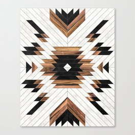 Urban Tribal Pattern No.5 - Aztec - Concrete and Wood Canvas Print
