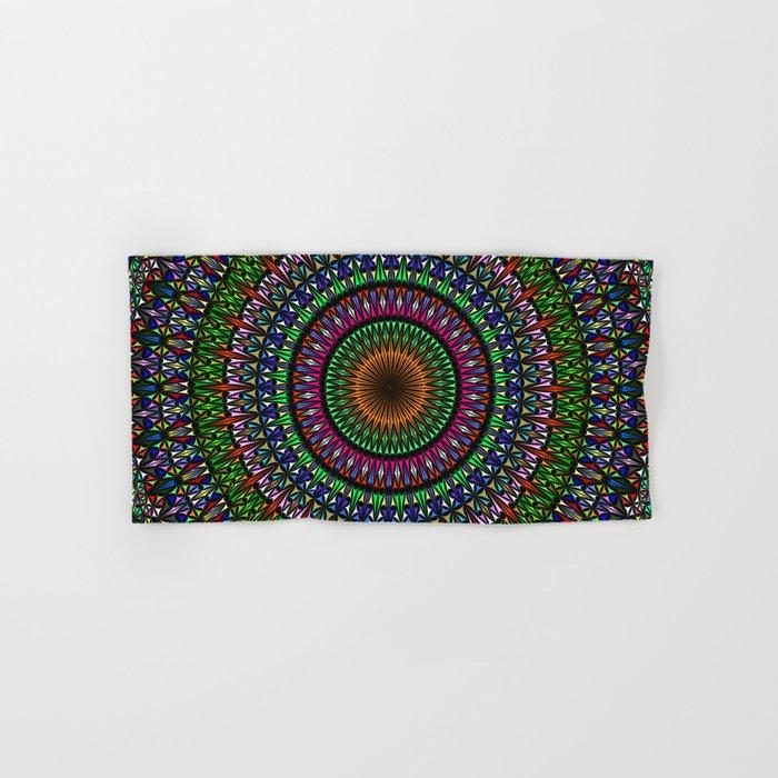 Hypnotic Church Window Mandala Hand & Bath Towel