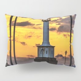 Maryport Lighthouse At Sunset Pillow Sham