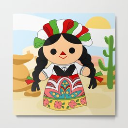Maria 1 (Mexican Doll) Metal Print