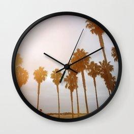 Palm Tree Road Wall Clock