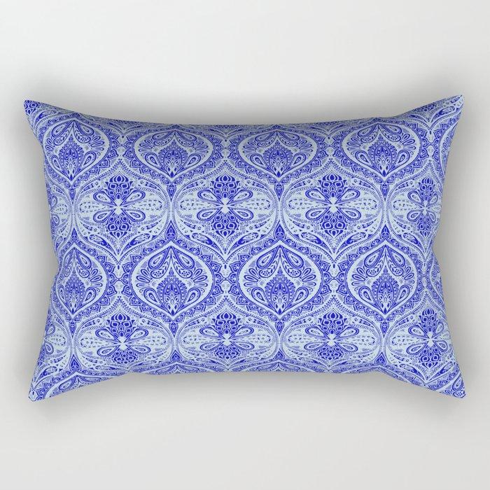 Simple Ogee Blue Rectangular Pillow