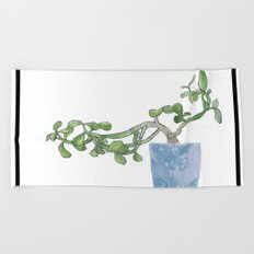 Plants are the best people Beach Towel