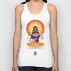 The inscrutable Lord ov Data Unisex Tank Top