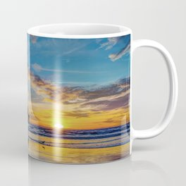 December Colors at Newport Pier. Coffee Mug