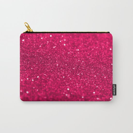 Bright Pink Glitter Carry-All Pouch