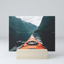 The Red Kayak Mini Art Print