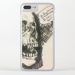 Inktober skull Clear iPhone Case