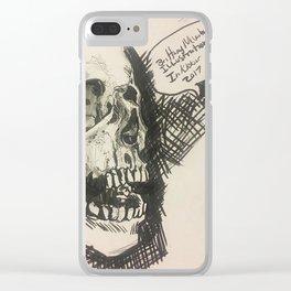 Inktober skull Clear iPhone Case
