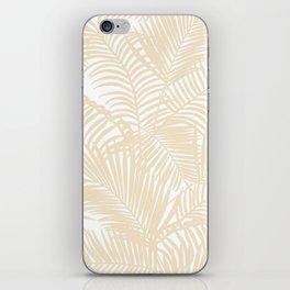Modern tropical elegant ivory palm tree pattern iPhone Skin