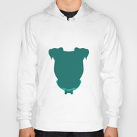 pit bull Hoodies featuring Pit Bull by The Velvet Buffalo