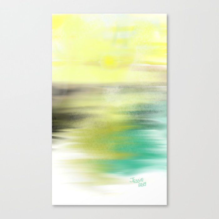 Decorative Sunset Canvas Print