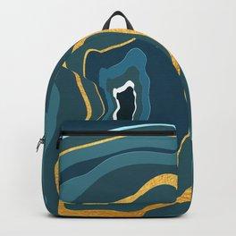 geode bleue Backpack