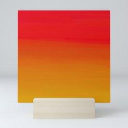 Red Apple and Golden Honey Ombre Sunset Mini Art Print