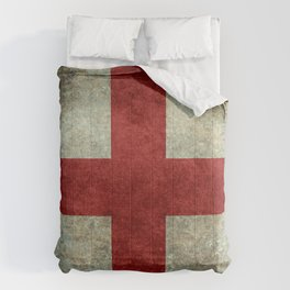 Flag of England (St. George's Cross) Vintage retro style Comforters