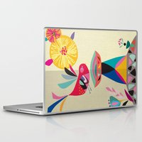 bath Laptop & iPad Skins featuring Bird Bath by Rachel Lee