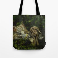 fairy Tote Bags featuring Fairy by Mark Spence