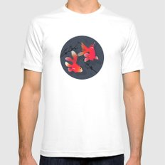 Like a fish in the sea MEDIUM White Mens Fitted Tee