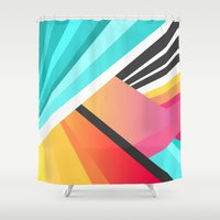 garden Shower Curtains featuring Space Garden by Elisabeth Fredriksson