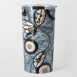 Lovely Flowers Blue Travel Mug