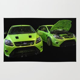 Two Green Focus RS Rug
