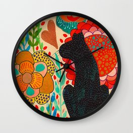 Sometimes My Love Is A Wild Thing Wall Clock