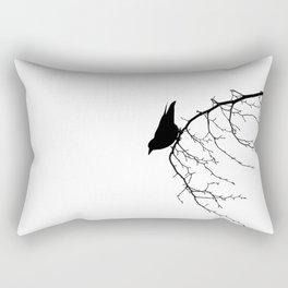 Perching Crow Rectangular Pillow