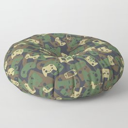 Gamer Camo WOODLAND Floor Pillow