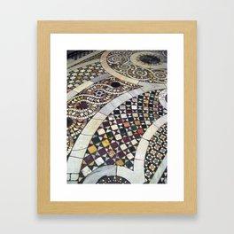 Mosaic Tile Vatican Floor (Hidden Jewish Star) Framed Art Print