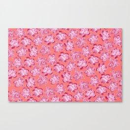 Wallflower - Rosette Canvas Print