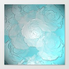 Embossed roses Canvas Print