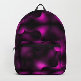 Bright pattern of blurry black and pink flowers in a dark kaleidoscope. Backpack