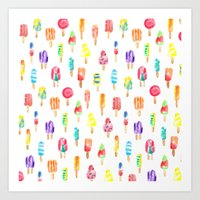 popsicle Art Prints featuring Popsicle by Golden Girl Art