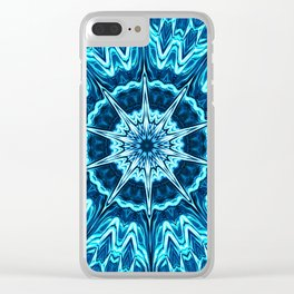 Psychedelic Blues Clear iPhone Case
