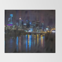 Philly Skyline Glowing Throw Blanket